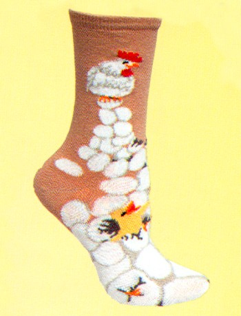 Chick' N Egg Socks from Critter Socks