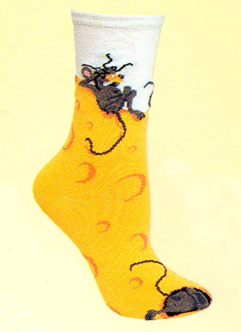 Cheese Mouse Socks from Critter Socks