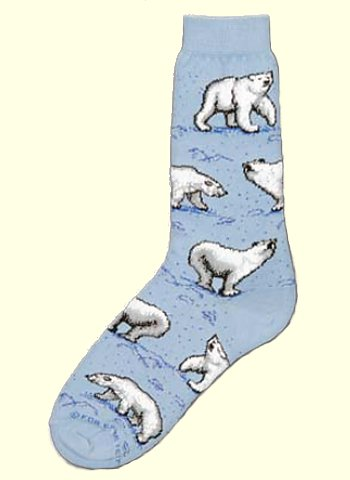 Polar Bear Socks from Critter Socks